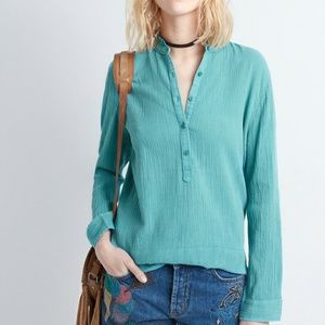 Zadig & Voltaire Tone Crinkle Mint Top